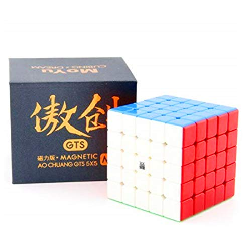 CuberSpeed Moyu Aochuang GTS M 5X5 stickerless Magic Cube Moyu Aochuang gts 5x5x5 Magnetic stickerless Speed Cube