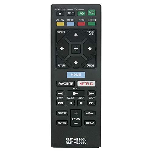 VINABTY RMT-VB100U RMT-VB201U Ersatz Fernbedienung für Sony BLU-RAY DISC Player BDP-S1500 BDP-S2500 BDP-S2900 BDP-S3500 BDP-S4500 BDP-S5500 BDP-S6500 BDP-BX150 BDP-BX350 BDP-BX550 BDP-BX650 Remote
