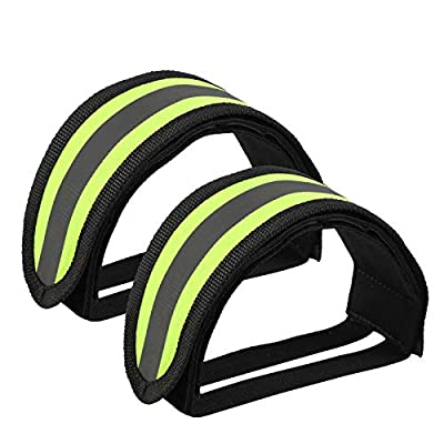 Outgeek 1 Pair Bike Pedal Straps Pedal Toe Clips Straps Tape for Fixed Gear Bike (Yellow)