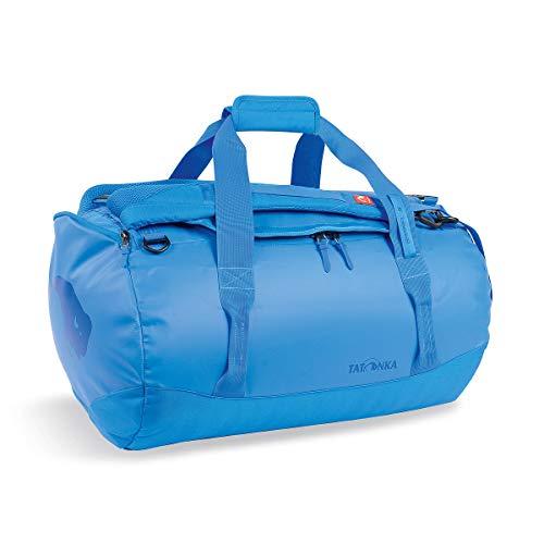 Tatonka Barrel S Reisetasche - 45 Liter - wasserfeste Tasche aus LKW-Plane mit Rucksackfunktion und großer Reißverschluss-Öffnung - Rucksacktasche - unisex - blau