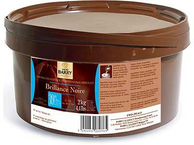 Cacao Barry - Cobertura Brillante Chocolate Negro, 2 kg