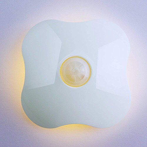 Wireless Motion Sensor Night Light, Battery Operated Bathroom Night Light LED Motion Activated Night Light with Adhesive Pads Stick-on Anywhere for Indoor, Hallway, Stairs, Toilet, Wardrobe, Closet