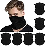 FAYBOX 6pcs Magic Wide Wicking Headbands Outdoor Headwear Bandana Sports Scarf Tube UV Face Mask for Workout Yoga Running Hiking Riding Motorcycling