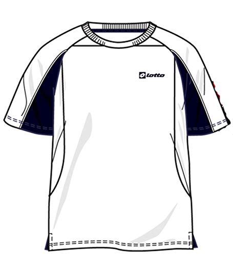 Lotto T-shirt Open Mesh pour homme, taille S (46) blanc/bleu marine