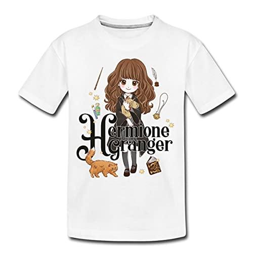Spreadshirt Harry Potter Hermine Granger Teenager Premium T-Shirt, 146-152, Weiß