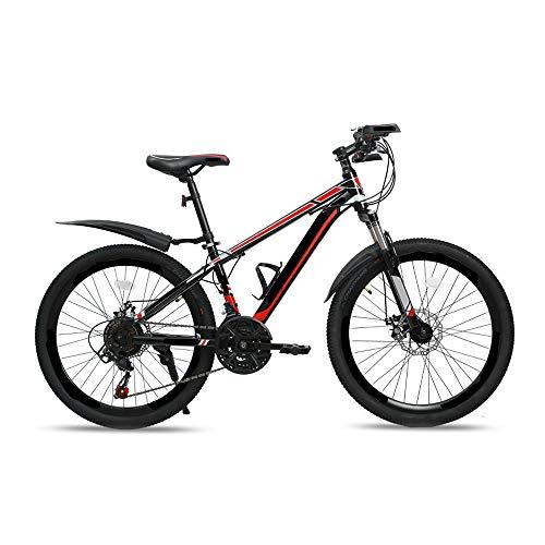 MH-LAMP 24 Zoll Mountainbike, MTB Hardtail Fahrrad 20 Zoll, Mountain Bike mit Gabelfederung, MTB Scheibenbremse, Rahmen Aus Kohlenstoffstahl, Sitz mit Schnellverschluss
