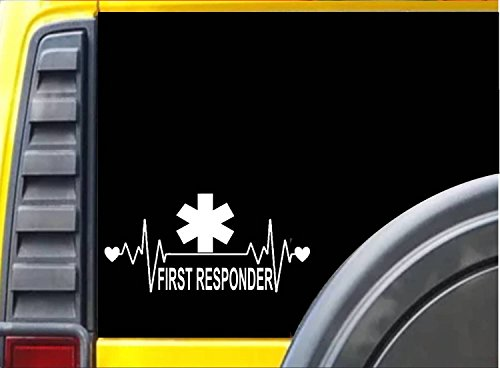 EZ-STIK Lifeline First Responder EMT Decal Sticker M191 8' Star of Life Heartbeat