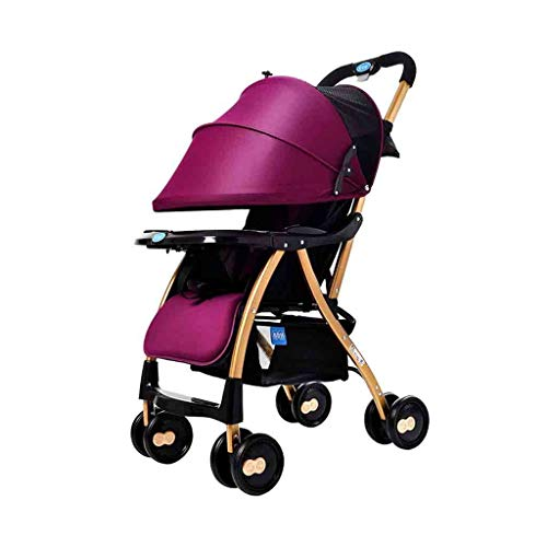 Best Deals! Queen Boutiques Baby Stroller Lightweight Folding Portable Stroller Rotating Wheel Suita...