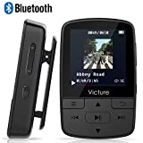 Victure Lettore MP3 Bluetooth con Clip 8GB MP3 Player con Radio FM, MP3 Player per Sport e Corsa, sostegno SD USB TF Fino alla Carta di 128GB