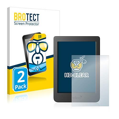 BROTECT Schutzfolie kompatibel mit Tolino Page 2 (2 Stück) klare Displayschutz-Folie