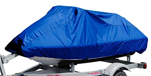 "Budge Jet Ski Cover Fits Jet Skis 121' to 135' Long, Blue (BA-54), Fits Jet skis 121"" to 135"" - 4 Stroke"