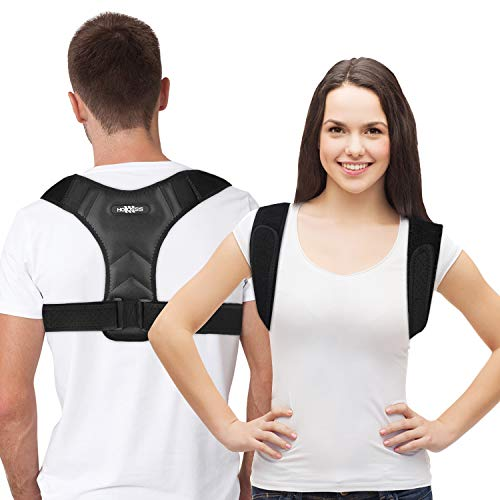 Posture Corrector for Women & Men - Upper Back Brace For Clavicle Support, Adjustable Back Straightener And Providing Correct post from Neck, Back & Shoulder Comfortable Posture Trainer - Universal