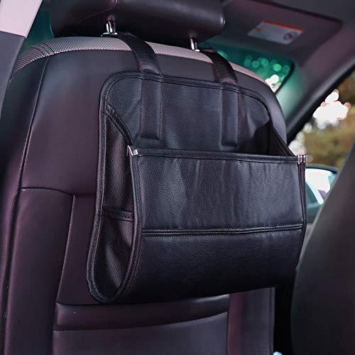 Sac de rangement pour voiture Sac de rangement pour siège auto Sac de rangement pour siège arrière Sac de rangement pour accessoires divers-Noir