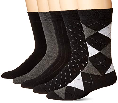 KM Legend Men's Dress Socks, Assorted 5 Pair Pack