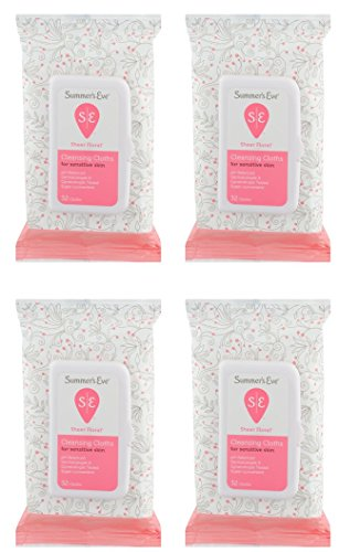 Summer's Eve Cleansing Cloths | Sheer Floral |32 Count | Pack of 4 | pH-Balanced, Dermatologist &...