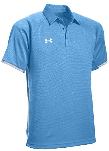 Under Armour Men's UA Rival Polo (Small, Carolina Blue)