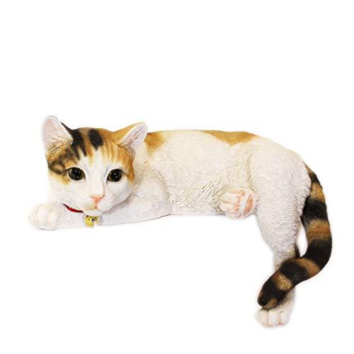 [ファンシー] ca79 m (三毛猫) ネコ 猫 置物 贈り物 お返しインテリア ガーデニング ガーデンオーナメント 猫 好きな人への プレゼント 誕生日プレゼント女性 人気 彼女 結婚記念日 転居 最適なプレゼント