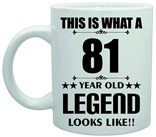 11039 Dit is Wat een 81 Jaar Oude Legende Lijkt Verjaardag Plezier Grap Koffie Theekop Keramische Vaatwasser safemug