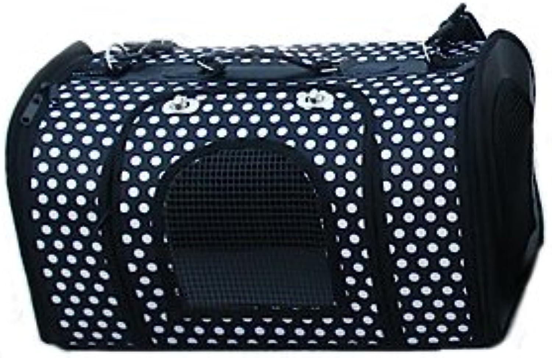 Pet Bags Dog Bags Multifunctional Folding Cat Bags Breathable Portable Travel Shoulder Bag Tote Bag Polyester Mesh,Black,S