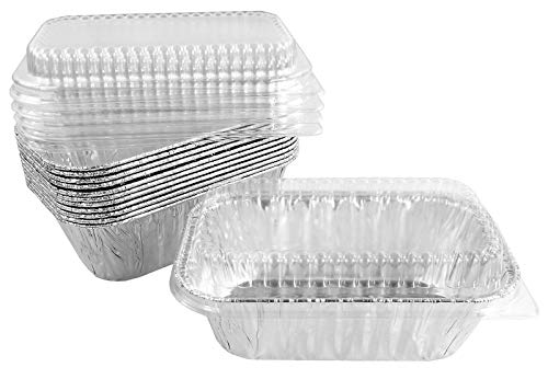 1 lb. Aluminum-Foil Mini-Loaf/Bread Baking-Pan w/Clear Low Dome-Lid – Kitchen Supplies – PI01 (100)