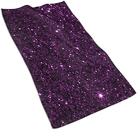 Sparkling Purple Glitter Hand Towel Highly Ultra Absorbent NEW It is very popular Soft