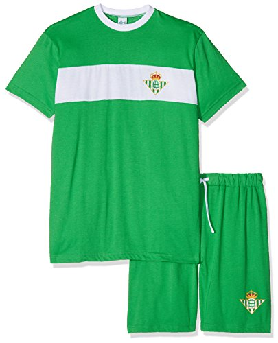 Real Betis Balompié Pijbet Pijama Corta, Infantil, Multicolor (Verde/Blanco), L