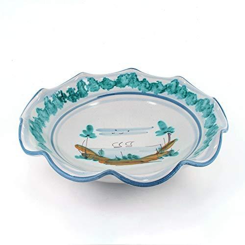 Portafrutta Fruttiera centrotavola in Ceramica di Caltagirone Decorata a Mano