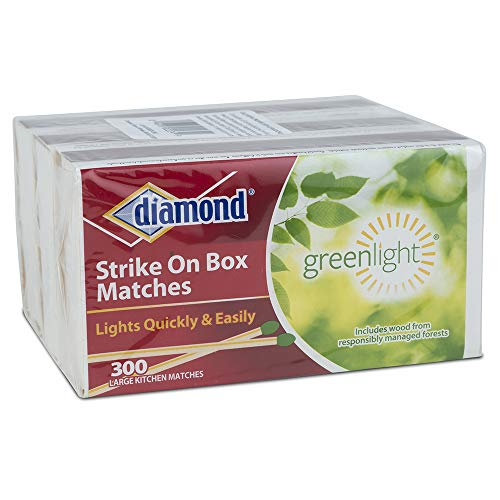 Diamond Greenlight Strike on Box Matches, 300 Count, 3 Pack