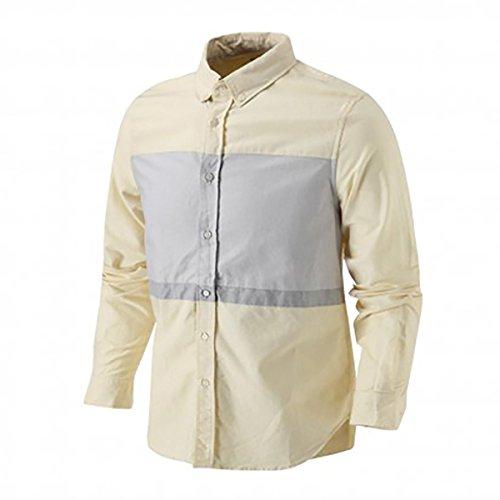PUMA x BWGH Oxford Panel Gr S 567304 11 Freizeithemd Herrenhemd Hemd beige