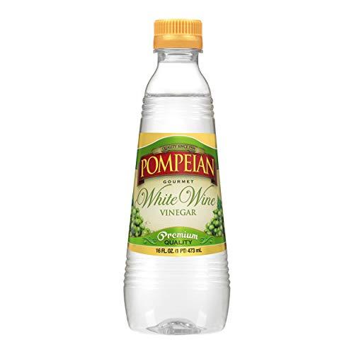 Pompeian Gourmet White Wine Vinegar, Bright &...