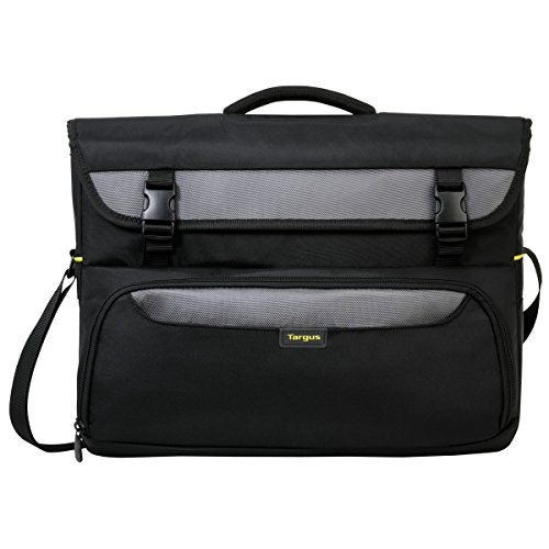 Targus CityGear II Hybrid Business Casual Messenger Bag with Dome Shock for 15.6-17-Inch Laptop, Black (TCG270)