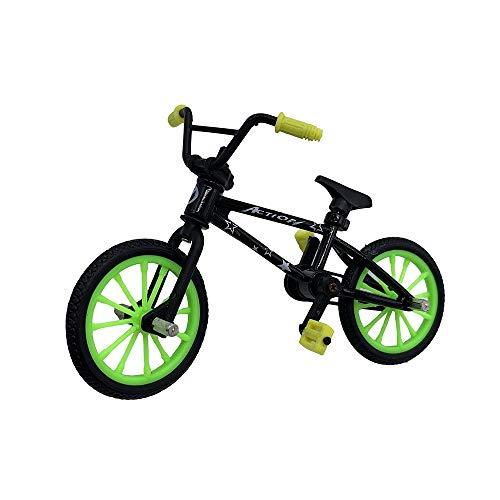 BMX Toys Alloy Finger BMX Functional Kids Bicycle Finger Bike Mini-Finger-BMX Set… (in Random Color)