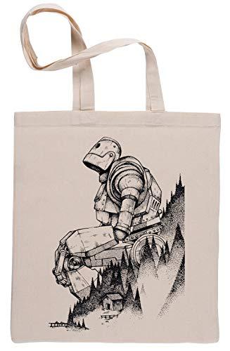 Hierro Gigante Beige Reutilizable Bolsa De Compras Reusable Beige Shopping Bag