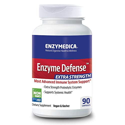 Enzymedica, Enzyme Defense Extra Strength, Advanced Dietary Supplement to Support Immune Health, Vegan, Kosher, Non-GMO, 90 capsules (90 servings)