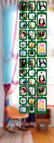 Trendfinding 1,63 m Set Fotos Bilder Raumteiler Rahmen Collage Fotowand Kartenwand Fotovorhang Fototaschen Fotogalerie Kunststoff Fotohalter Grün