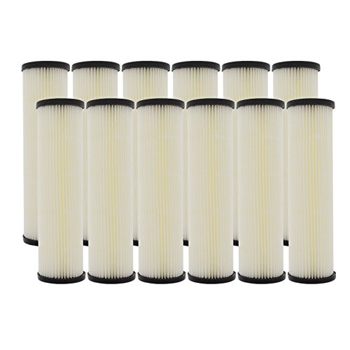 Pentek S1 20 Micron Standard 10 x 2.5 Inch Pleated Sediment Water Filter 12 Pack