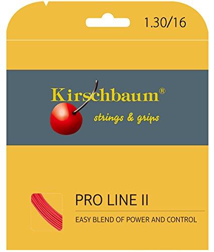 Kirschbaum Unisex– Erwachsene Pro Line 2 Tennis-Saite, rot - rot, 1,30 mm x 12 m