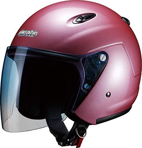 マルシン(MARUSHIN) バイクヘルメット ジェット M-400 ローズメタリック フリーサイズ(57~60CM未満)