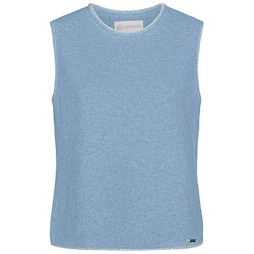 GIESSWEIN Pullunder Novia - Feinstrick Top aus 100% Lammwolle, Shirt mit Rundhals Ausschnitt, Damen Pullover ärmellos, Kellerfalte & Zopfmuster am Rücken