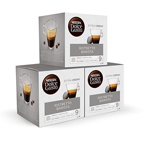 Nescafé DOLCE GUSTO Ristretto BARISTA - Pack de 3 x 16 Cápsulas - Total: 48 Cápsulas