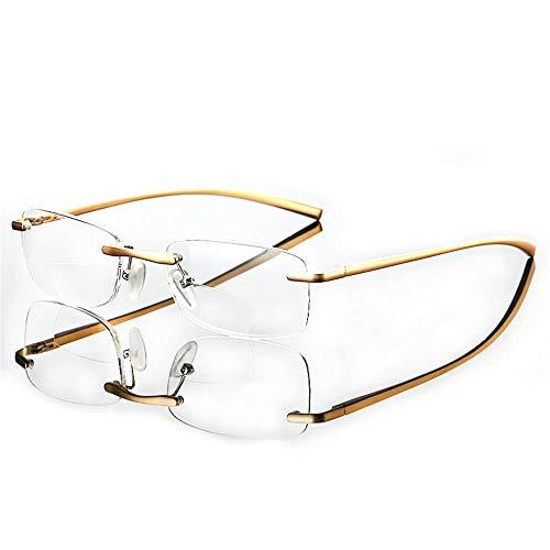NHY Gafas de Lectura Hombres Aleación de Titanio Plegado Mu