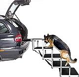 MRWW Rampa para perro, escalera de perro, con telescópica portátil de aluminio ligero y tela antideslizante duradera para botas de coche y camiones de altura 75-89 cm