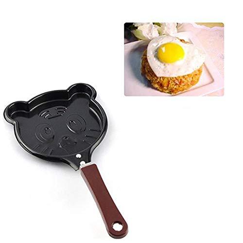 SHUNYUS Frigideira de omelete, frigideira de ferro fundido com padrão de panqueca conveniente para o café da manhã, padrão aleatório