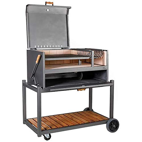 Nuke Delta Authentic Argentinian-Style Outdoor Cooking Charcoal Gaucho Santa Maria Grill, 40 Inch, Black