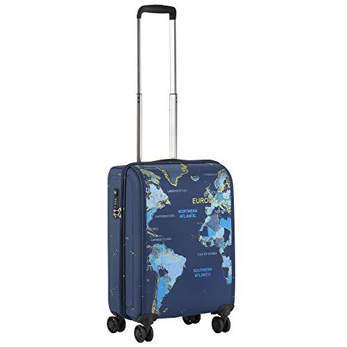 Hybrid World Map Travel Suitcase - Lightweight Suitcase with TSA Lock and Double Wheels - OKOBAN
