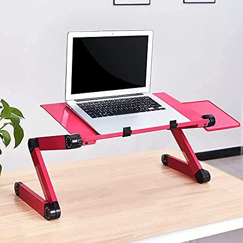 ZUIZUI Mesa de ordenador portátil, soporte plegable para computadora portátil con ángulo de altura ajustable, ventilador de refrigeración USB