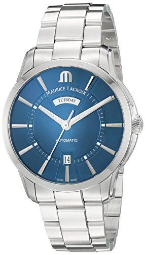 Maurice Lacroix Reloj Analógico para Hombres de con Correa en Acero Inoxidable PT6358-SS002-430-1