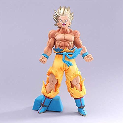 Dragon Ball Z Goku Goudblond Super SaiYan Uitbraak Chocoladeborstel Bloed PVC Figuur DBZ Collectie Beeldhouwwerk 20cm