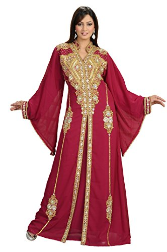 Maxim Creation Vestido de novia Kaftan Takhita para mujer