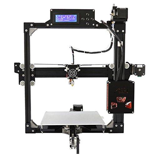 Poncherish Professionel 3D-Drucker DIY-Kits, Aluminum 3D Desktop Drucker, hohe Präzision DIY 3D-Drucker Druckgröße 220x220x220mm